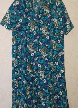 Халат в цветы, домашнее платье, халат жіночий dolce amaro