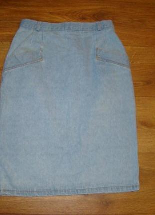 Джинсовая юбка высокая талия италия