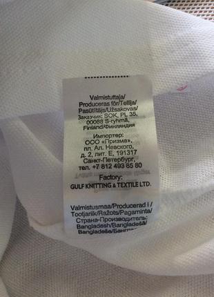 Белоснежная футболка поло, размеры 110-170, финляндия2 фото