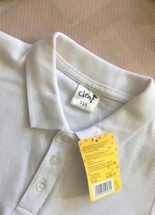 Белоснежная футболка поло, размеры 110-170, финляндия5 фото