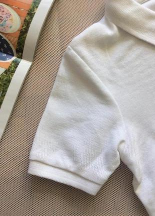 Белоснежная футболка поло, размеры 110-170, финляндия6 фото