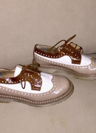 Туфли- оксфорды.натуральная кожа.италия1 фото