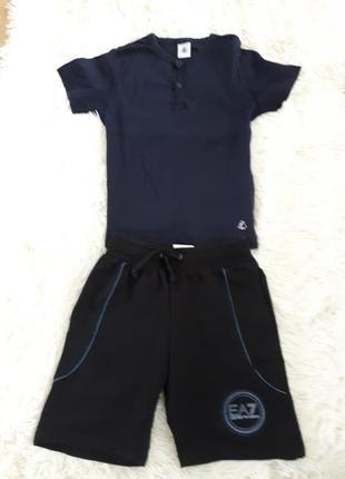 Летний костюм/ комплект на мальчика шорты и футболка armani оригинал/116-122см *5-6лет