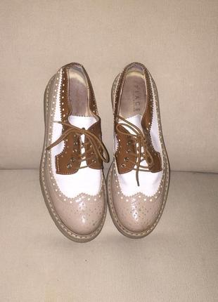 Туфли- оксфорды.натуральная кожа.италия9 фото