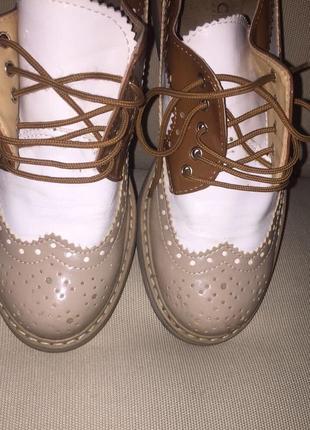 Туфли- оксфорды.натуральная кожа.италия10 фото