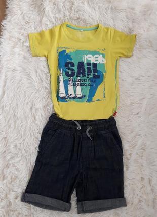 Летний костюм/ комплект на мальчика шорты и футболка next/ 5-6лет