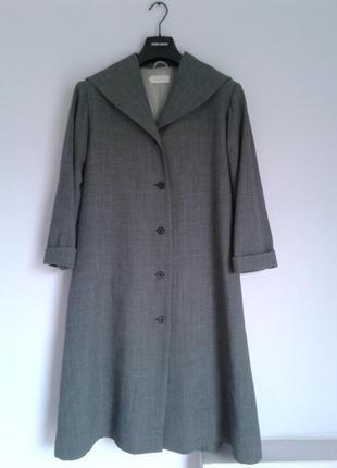 Шикарный плащ-пальто из тонкой шерсти, шерстяной оверсайз британского бренда toast