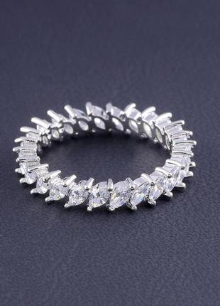 Кольцо 'big dipper' фианит (родий) 0559410