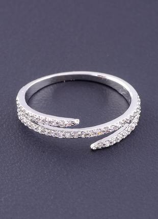 Кольцо фианит (серебро) 0715220