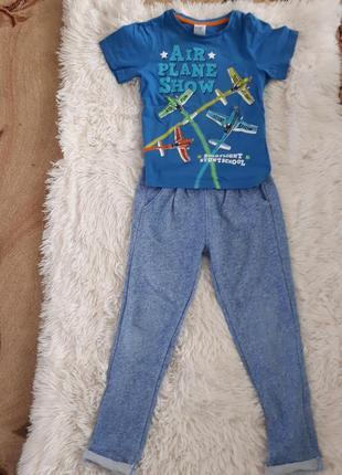 Летний костюм/ комплект на мальчика штаны и футболка h&m/116-122см *5-6лет