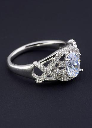 Кольцо 'xuping' фианит (родий) 0591520