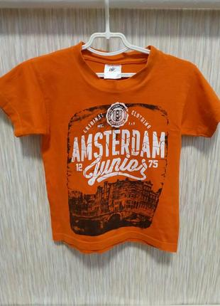 Футболка оранжевая amsterdam