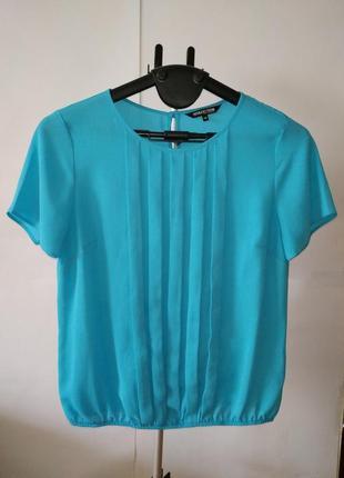 Бирюзовая легкая красивая блуза debenhams uk 14/42/l