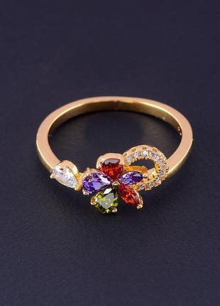Кольцо 'xuping' фианит (позолота 18к) 0611520