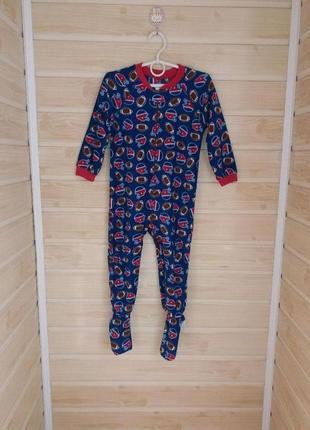 Флисовый слип пижама 3г