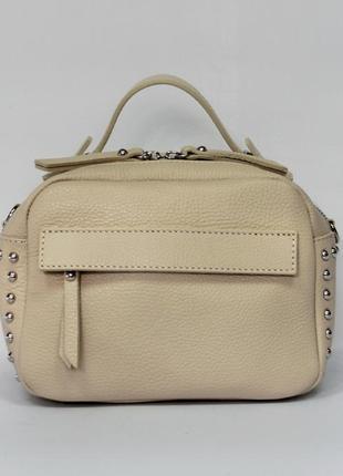 Маленькая женская сумочка италия натуральная кожа