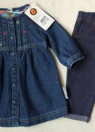 Новое джинсовое платье на 3-6 месяцев