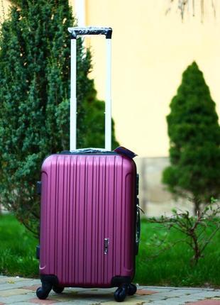 Качество! чемодан из поликарбоната пластиковый чемодан ручная кладь киев