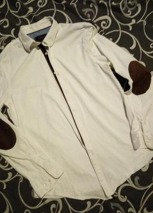 Трикотажная рубашка с датами на рукаве 100%коттон