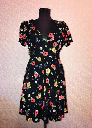 Красивое легкое платьице в красивый принт 100% вискоза