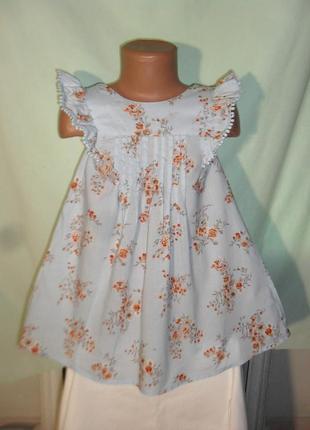 Легкое платье на 2-3годика
