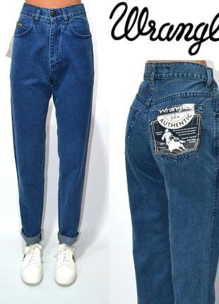 Джинсы момы винтаж высокая посадка, мом mom jeans wrangler.
