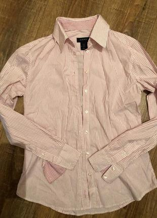 Деловая рубашка в полоску gant /рубашка в офис 38по