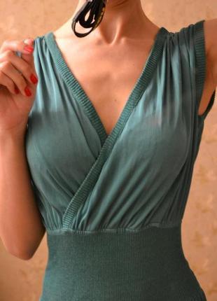 Платье шёлк missoni оригинал, с разрезами, изумрудное