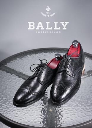 Дерби люкс класса bally, швейцария 43-43,5 мужские туфли кожаные броги
