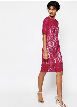 Розовое платье от asos