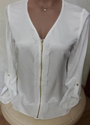 Распродажа!шикарная белая блуза