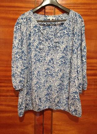 Стильная легкая летняя блуза / большой размер / debenhams collection / 5 xl