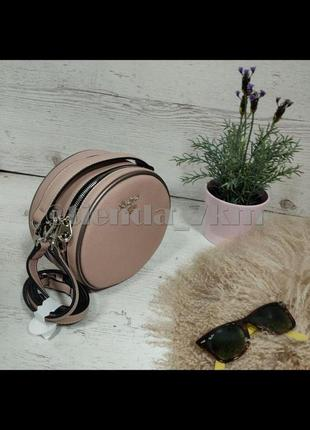 Круглый клатч от david jones 5952-2t розовый