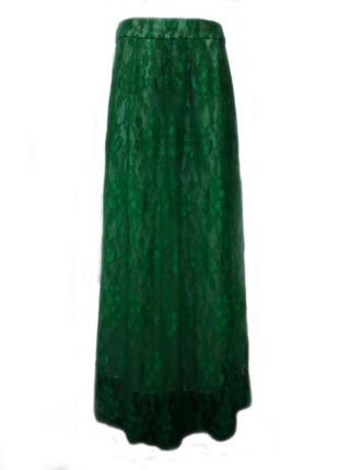 Нарядная гипюровая юбка на подкладке