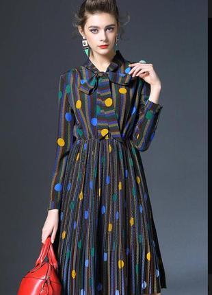 🔥необычное женственное платье с интересным принтом