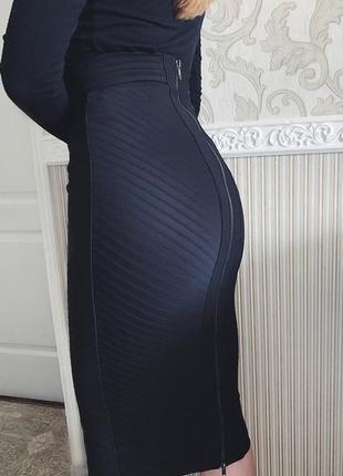 Чёрная бандажная юбка