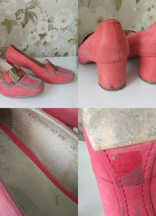 Нубуковые туфли braska р. 36