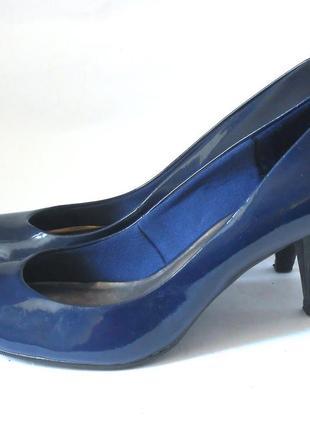Элегантные лаковые туфли marks & spencer, р-р 41-42 код t41062 фото