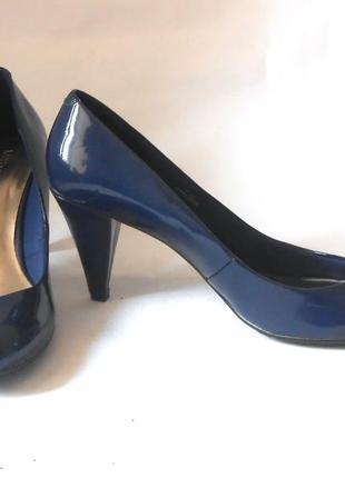Элегантные лаковые туфли marks & spencer, р-р 41-42 код t41066 фото