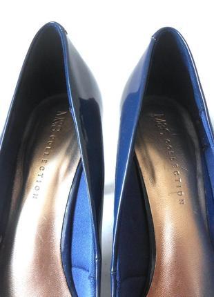 Элегантные лаковые туфли marks & spencer, р-р 41-42 код t41068 фото