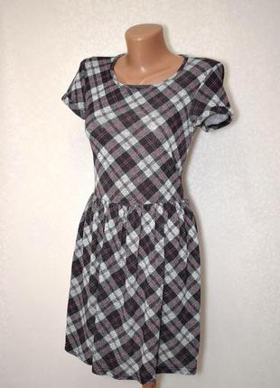 Платье в клетку new look, xxs-xs