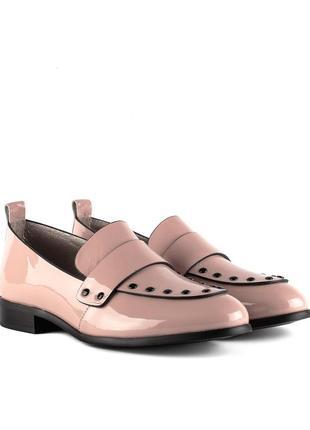 1328т женские туфли deenoor,кожаные,на танкетке,на толстой подошве,на низком ходу