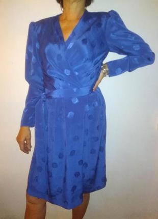 Платье синее винтаж