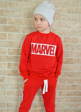 """Комплект свитшот и штаны с лампасами """"marvel"""" , спортивный костюм"""