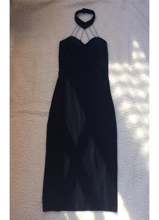 Нарядное вечернее/на выпускной/бархатное длинное платье