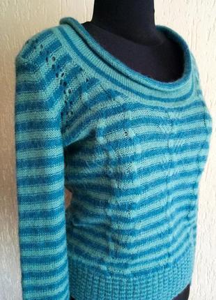 Модный теплый джемпер от fat face, свитер махер+шерсть