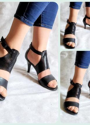 Босоножки кожа vagabond кожа черные туфли