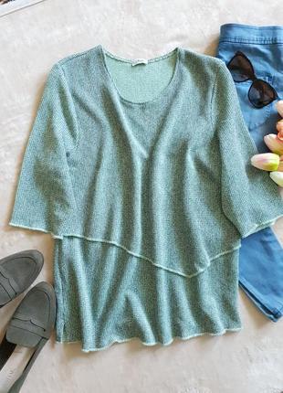 Шикарная блуза,мелкой вязки.