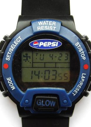 Pepsi спортивные ретро часы из сша 1997 уникальные функции