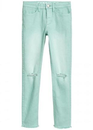 Оригинальные брюки суперстретч от бренда h&m разм. 152(11-12 лет)